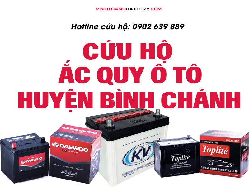 cứu hộ ắc quy, câu bình, kích bình ắc quy tại huyện Bình Chánh TpHCM