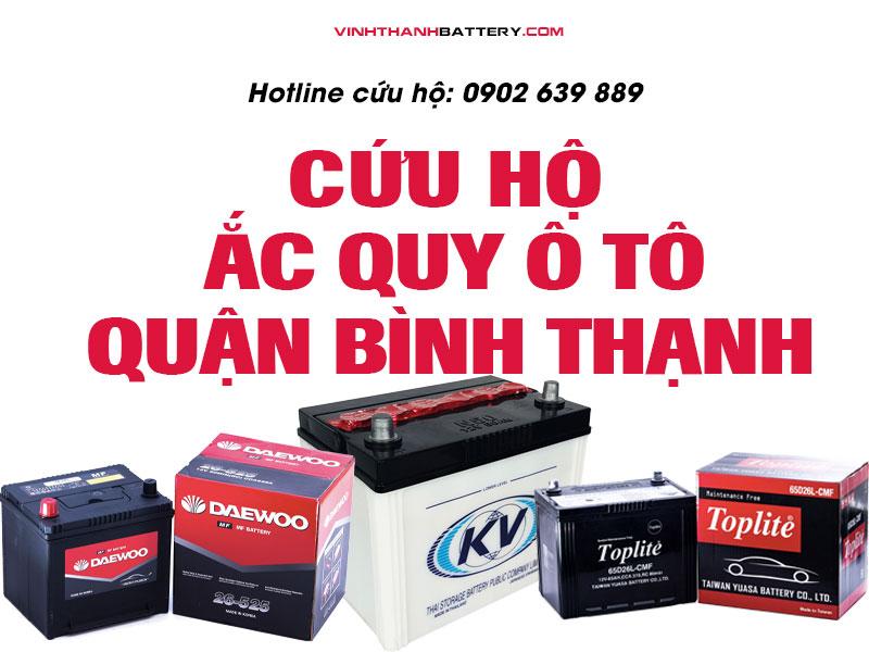 Cứu hộ, câu bình, kích bình ắc quy tại quận Bình Thạnh - TpHCM