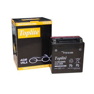 Ắc Quy Moto Toplite YTX16-BS 12V-14Ah