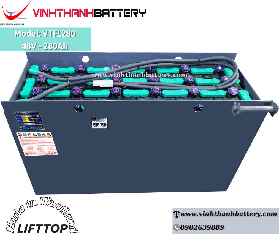 Bình ắc quy xe nâng Nhập Khẩu - LIFTTOP 48V-280Ah VTFL280