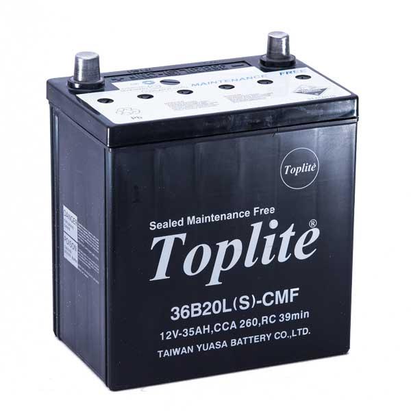 Bình ắc quy Oto Toplite 36B20LS 12V-35AH