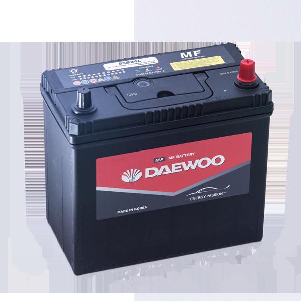 Bình ắc quy Oto Daewoo 55B24LS 12V - 45AH