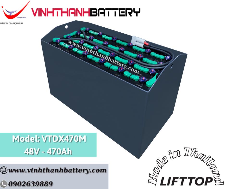 Bình ắc quy xe nâng Nhập Khẩu - LIFTTOP 48V-470Ah VTDX470M