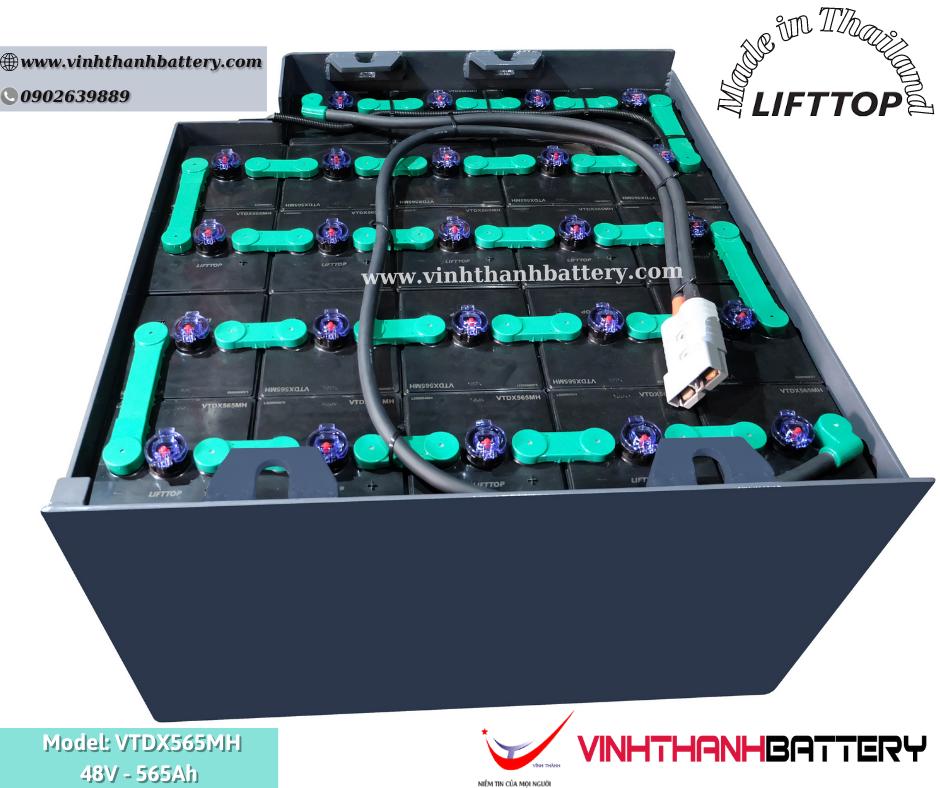 Bình ắc quy xe nâng Nhập Khẩu - LIFTTOP 48V-565Ah VTDX565MH