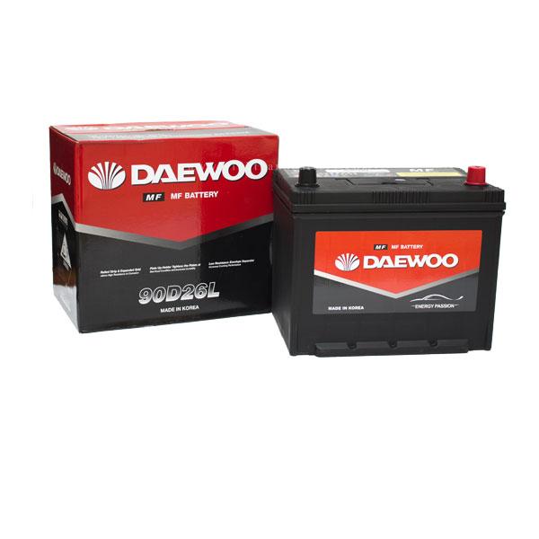 Bình ắc quy Oto Daewoo 90D26L 12V-75AH