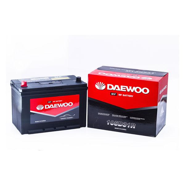 Bình ắc quy Oto Daewoo 105D31R  12V - 90AH