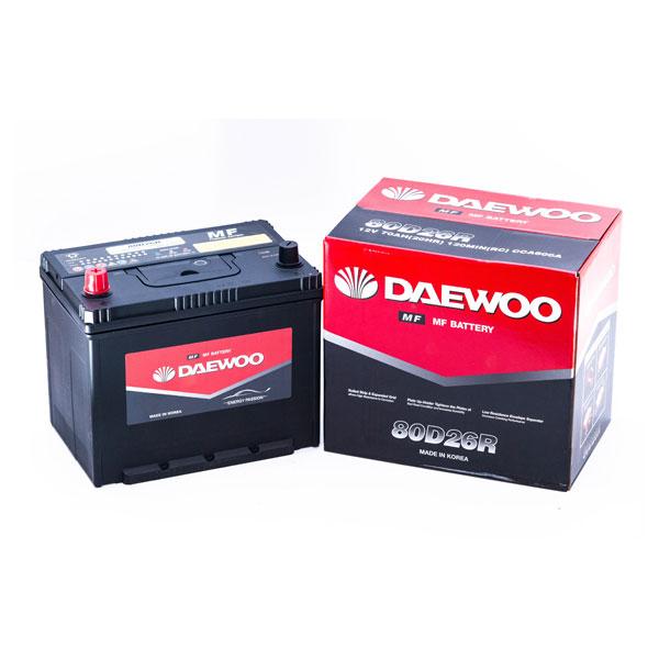 Ắc Quy Daewoo 80D26R 12V - 70AH