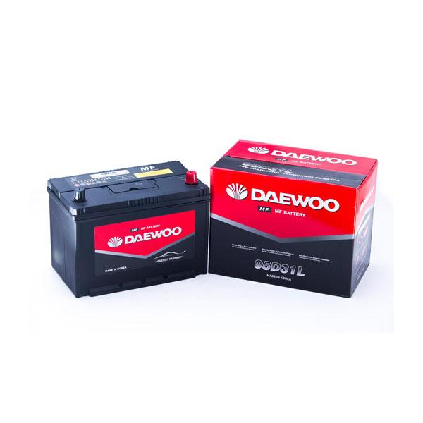 Bình ắc quy Ô tô NGOẠI NHẬP - Daewoo 95D31L 12V - 80AH