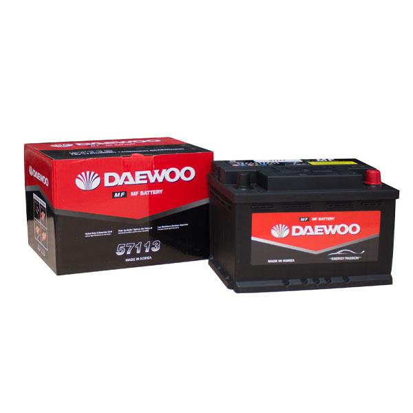 Bình ắc quy Ô tô NGOẠI NHẬP - Daewoo DIN 57113 12V - 71AH