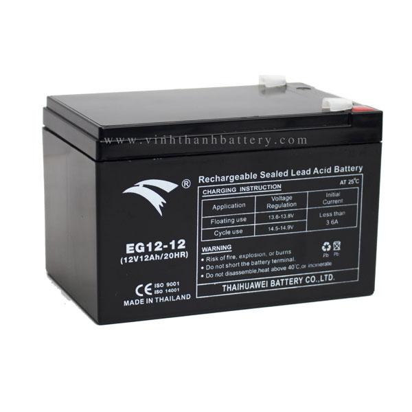 Bình ắc quy cho bộ lưu điện UPS EAGLE EG12-12 12V-12AH