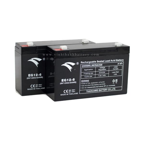 Bình ắc quy cho bộ lưu điện UPS EAGLE EG12-6 6V-12AH