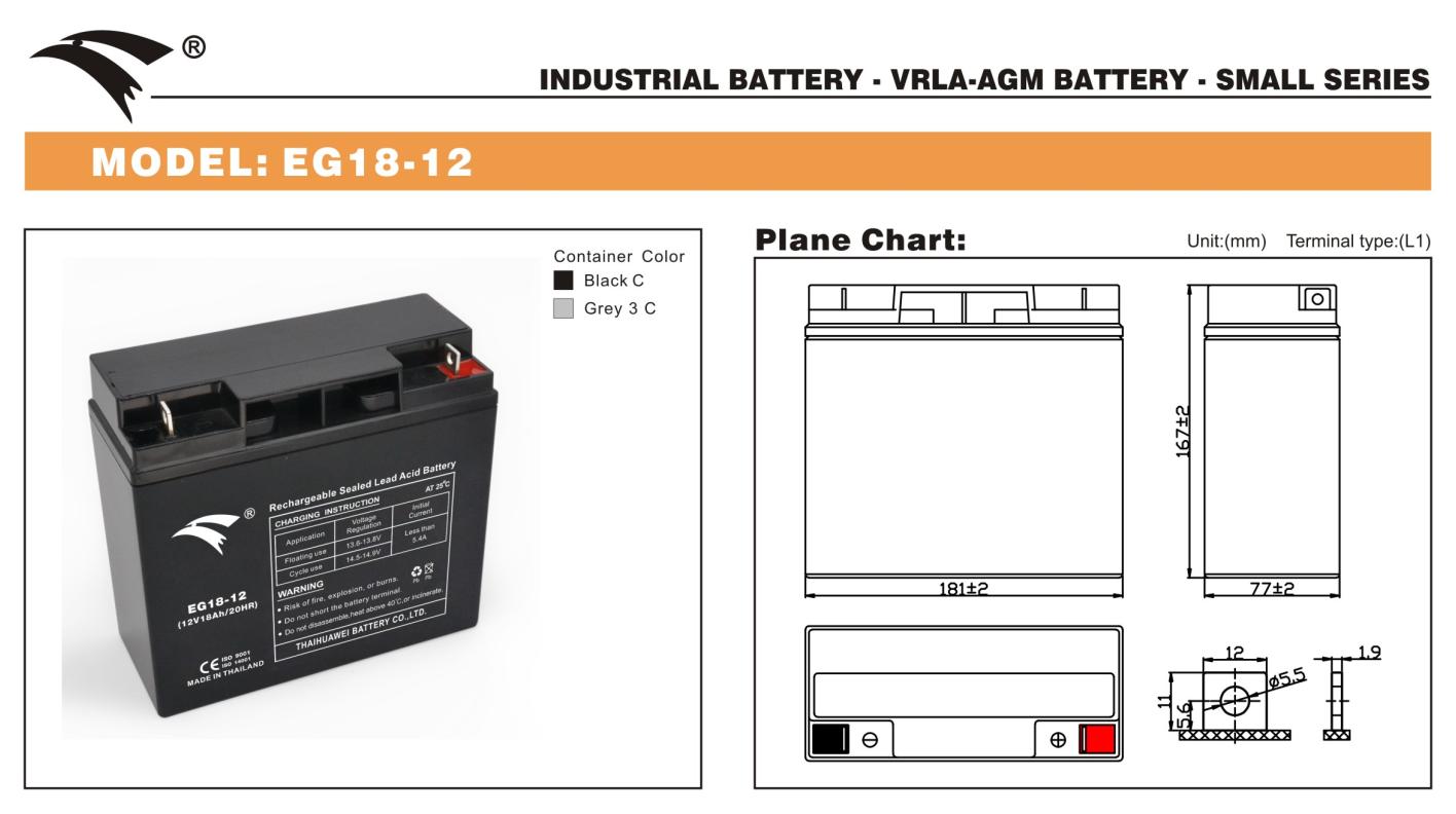 Bình ắc quy cho bộ lưu điện UPS EAGLE EG18-12 12V-18AH