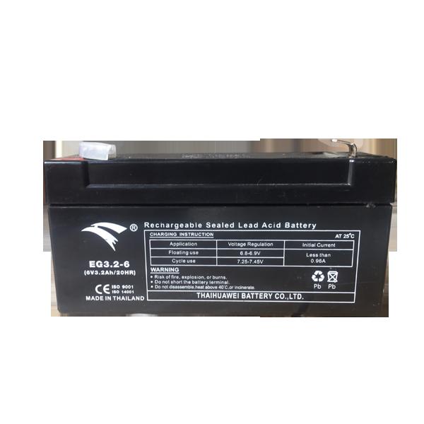 Bình ắc quy cho bộ lưu điện UPS EAGLE EG3.2-6  6V-3.2AH (HÀNG NGOẠI NHẬP)