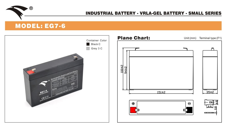 Bình ắc quy cho bộ lưu điện UPS EAGLE EG7-6 6V 7AH