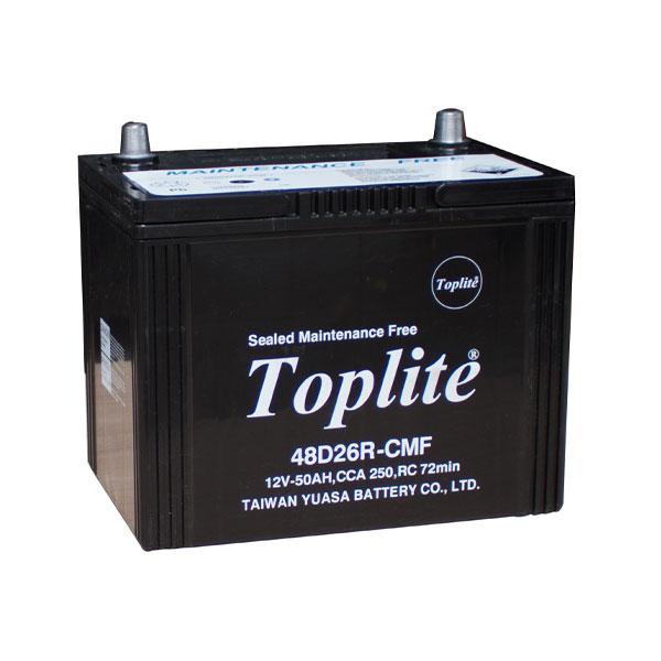 Bình ắc quy Oto Toplite 48D26R 12V-50AH (HÀNG NGOẠI NHẬP)