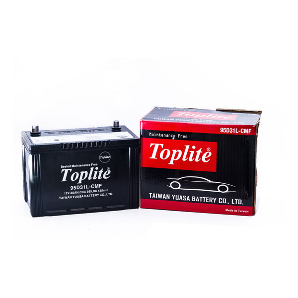 Bình ắc quy Oto Toplite 95D31L 12V-80AH