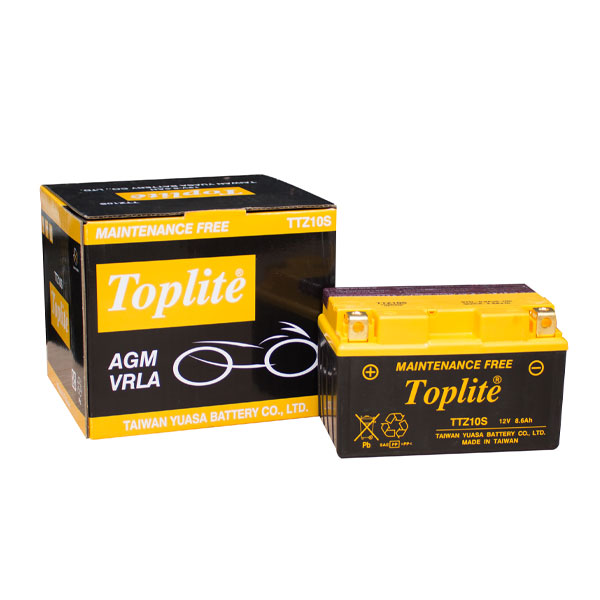 Ắc Quy Moto Toplite TTZ10S 12V-8.6Ah