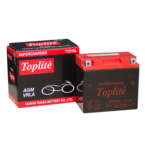 Ắc quy Toplite TTZ7SL Supercharged 12V-6AH