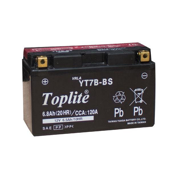 Ắc Quy Moto Toplite YT7B-BS 12V-6.5 Ah (HÀNG NGOẠI NHẬP)