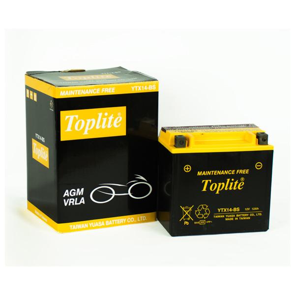 Ắc Quy Toplite YTX14-BS 12V-12.6 Ah