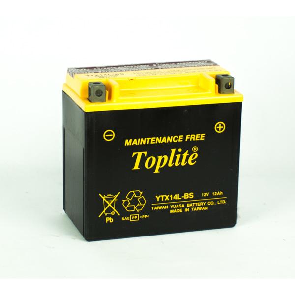 Ắc Quy Moto Toplite YTX14L-BS 12V-12.6Ah (HÀNG NGOẠI NHẬP)