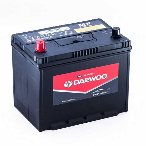 Bình ắc quy Ô tô NGOẠI NHẬP - Daewoo 80D26L 12V - 70AH