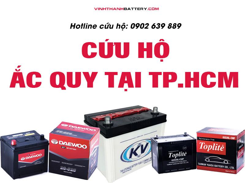Cứu hộ bình ắc quy ô tô tại Tp.HCM